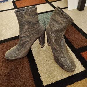 Michael Kors Mandy metallic glitter ankle boots